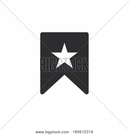Bookmark With Star Icon Vector, Solid Logo Illustration, Pictogram Isolated On White