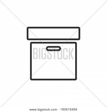 Archive Box Line Icon, Outline Vector Logo Illustration, Linear Pictogram Isolated On White