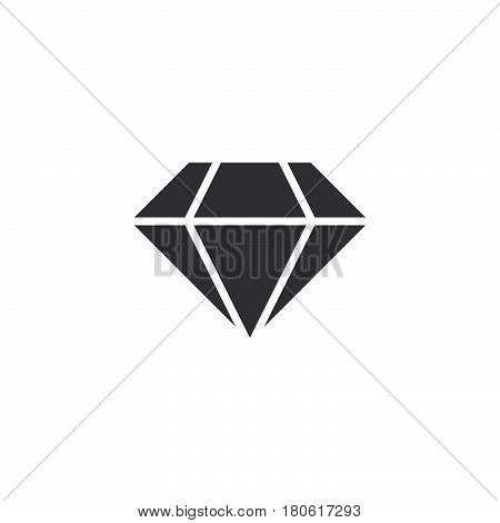 Diamond Icon Vector, Brilliant Solid Logo Illustration, Pictogram Isolated On White