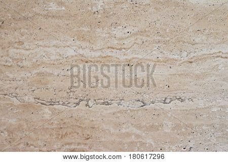 Classic travertine marble texture background with space for text or image