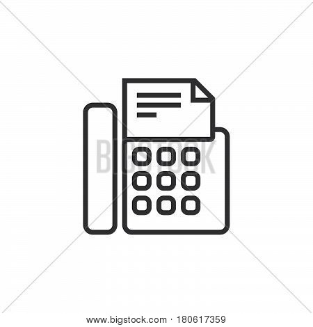 Fax Machine Line Icon, Telefax Outline Vector Logo Illustration, Linear Pictogram Isolated On White