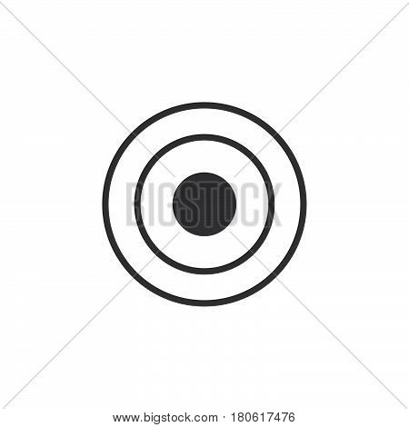 Bullseye Icon Vector, Target Solid Logo Illustration, Pictogram Isolated On White