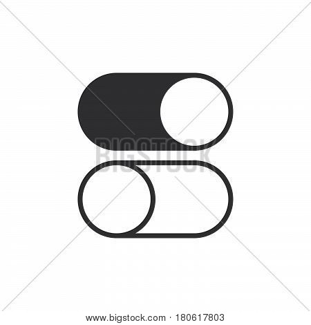 Toggle On And Off Icon Vector, Solid Logo Illustration, Pictogram Isolated On White