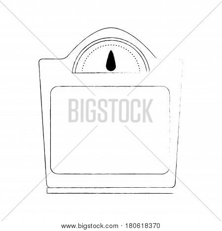 weight scale icon image vector illustration design  simple sketch line