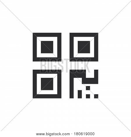 Qr Code Icon Vector, Solid Logo Illustration, Pictogram Isolated On White