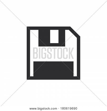 Save Icon Vector, Diskette Solid Logo Illustration, Pictogram Isolated On White