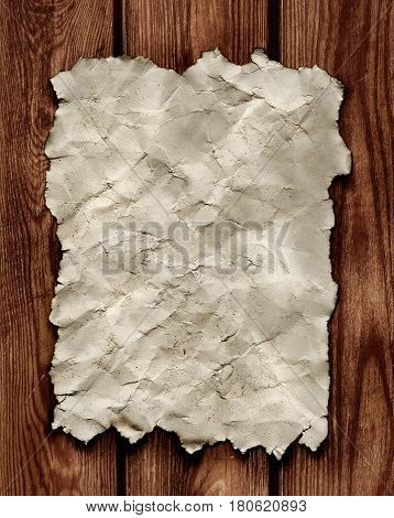 White empty papel hang in a wood wall