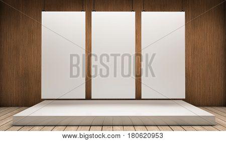 Three White Exhibitor