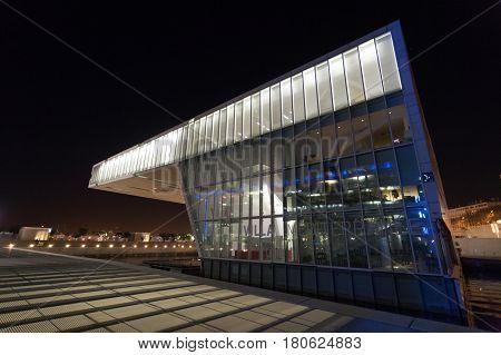 Modern Building Exterior View, Marseille, France