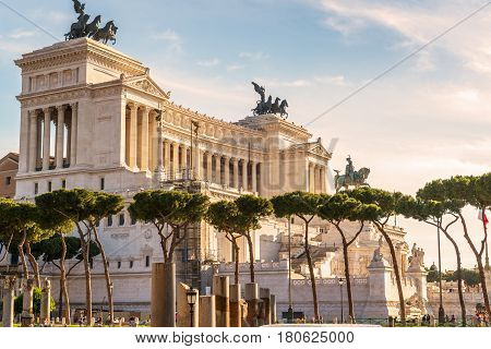 ROME, ITALY - MAY 8, 2014: The Altare della Patria also known as National Monument to Victor Emmanuel II or