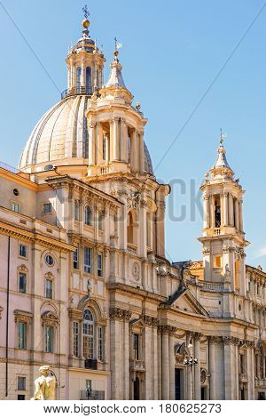 Church of Sant'Agnese in Agone at Piazza Navona in Rome, Italy