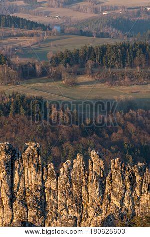 Dry Rocks in the Bohemia Paradise. Czech Republic