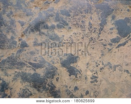 Old Stone Background Texture. Cobblestone Floor Or Wall Rusty Pattern. Black And Brown Moire Rock, R