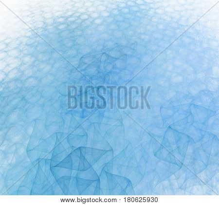 Abstract Blue And Turquoise Background With White Perspective. Optimistic And Fresh. Fractal Digital