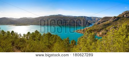 Loriguilla Pantano swamp reservoir in Serranos area of Valencia Spain