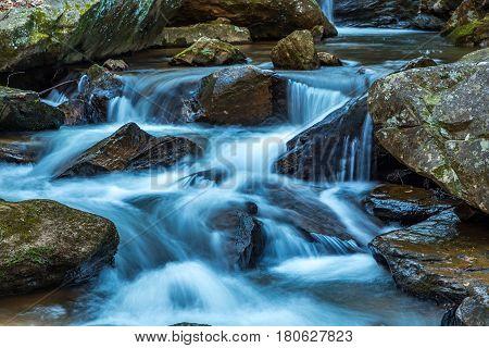 Pearsons Falls is a waterfall in Colt Creek near Saluda North Carolina.
