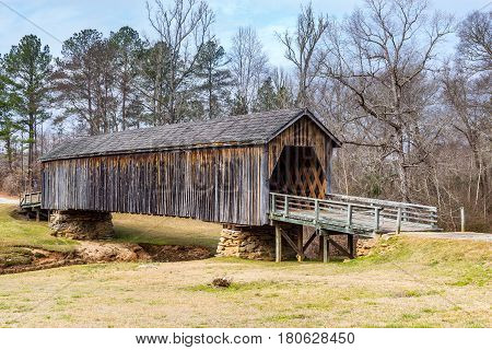 Built in 1892 the Auchumpkee Creek Covered Bridge is also known as Zorn's Mill and Hootenville Bridge.