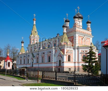 Holy Intercession Orthodox Cathedral In Grodno, Belarus.