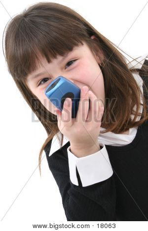 Child Yelling Into Cellphone