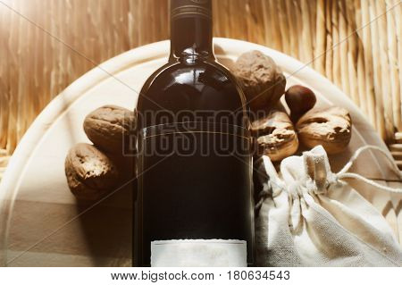 walnuts and red wine can be enjoyed in the winter evenings