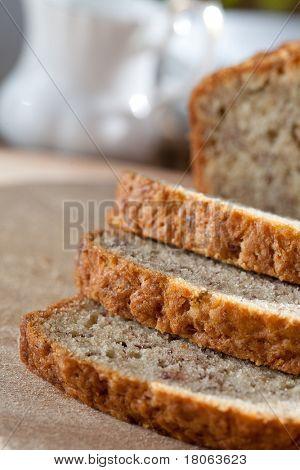 Freshly baked banana bread poster