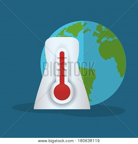 thermometer globe weather hot vector illustration eps 10