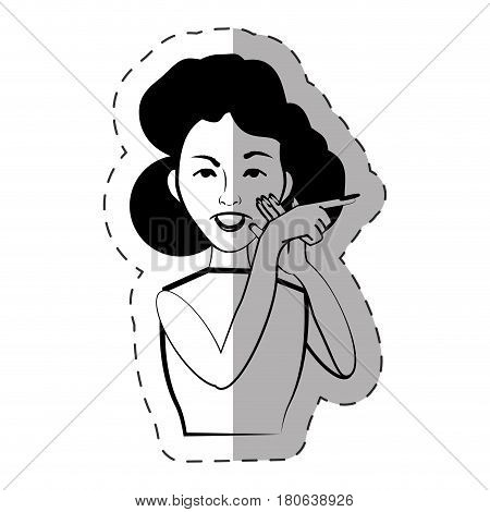 cartoon woman expression gesture vector illustration eps 10
