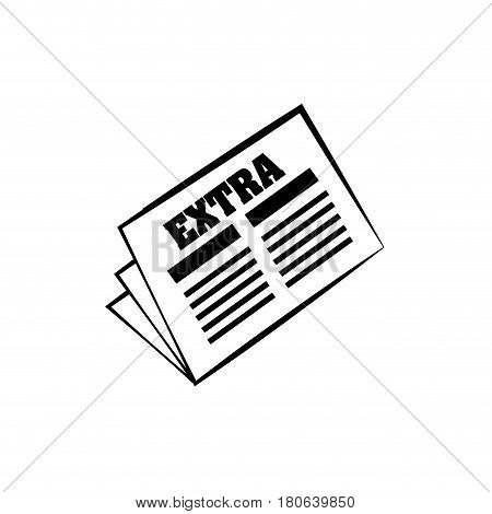 newspaper extra news daily line vector illus