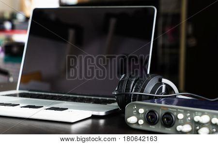 Computer Music Home setup recording equipment studio