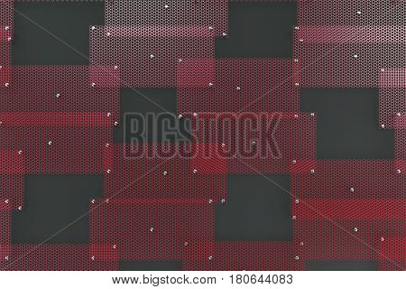 Red Circular Grates On Dark Grey Background