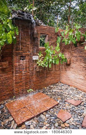 Shower Rooms In The Guesthouse Of Khao Sok Sanctuary, Thailand