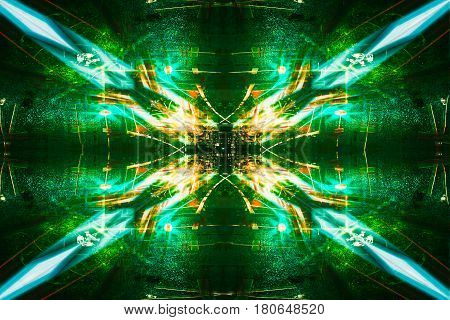 Futuristic Sci-Fi Complex New Era abstract. Hi tech Cyber Space Advanced Technology concept background.