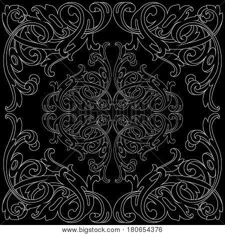 Vintage ornament, baroque ornament, scroll ornament, engraving ornament, border ornament, floral ornament, retro pattern, antique pattern, style acanthus pattern, foliage pattern, swirl pattern decorative pattern, filigree pattern. vector