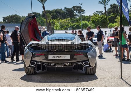 Mclaren 570Gt Car Displayed In Tel-aviv. Israel