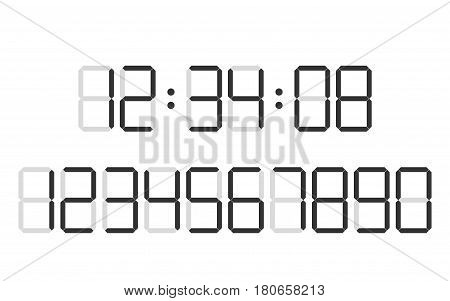 Digital clock  number set timers set alarm