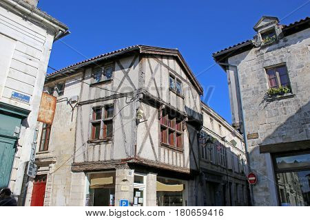 Medieval house in Saint Jean-D'Angely in France