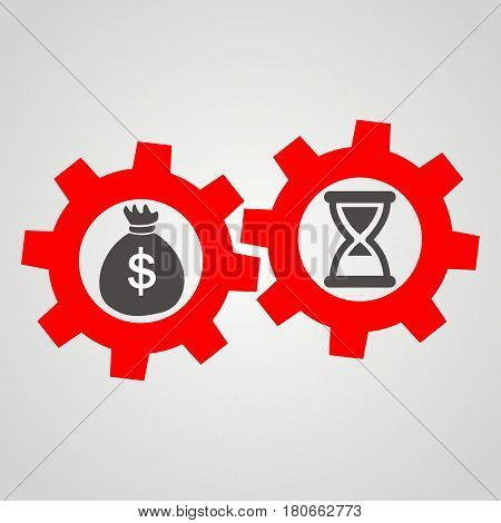 Time is money. Business Flat vector Icon