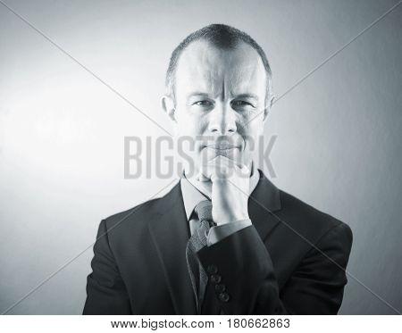 Businessman In Suit Listening