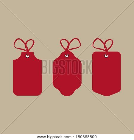Price tags and gift cards tied up with twine bows