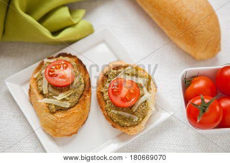 Fresh Homemade Antipasto Bruschetta