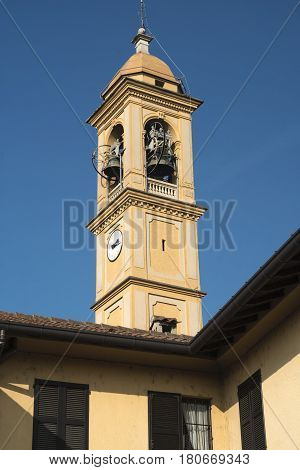 Costa Lambro (Monza Brianza Lombardy Italy): exterior of the historic San Martino church