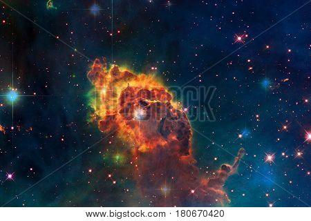 Carina Nebula In Outer Space.