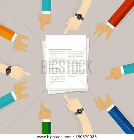 science journal submission working together on paper vector