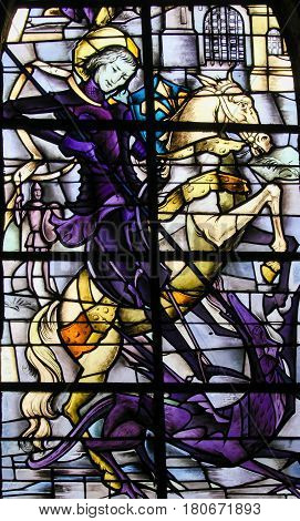 Stained Glass - Saint George And The Dragon