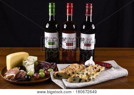 PRIMORSKOE UKRAINE - AUGUST 4 2016: Spanish wines
