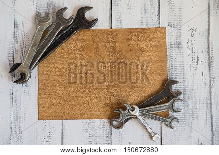 bench tool, wrench, equipment, tool, repairing, work, objects, steel