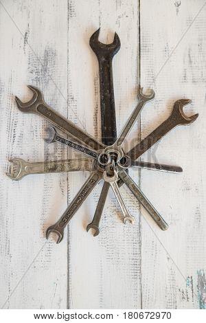 bench tool, wrench, equipment, tool, repairing, work