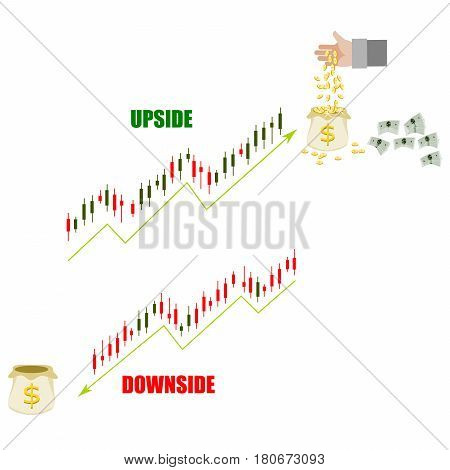 Financial stock market data. Candle stick graph chart of stock market ,stock market data graph chart , work for stock market background. Rich and poor for upside and downside of stock.