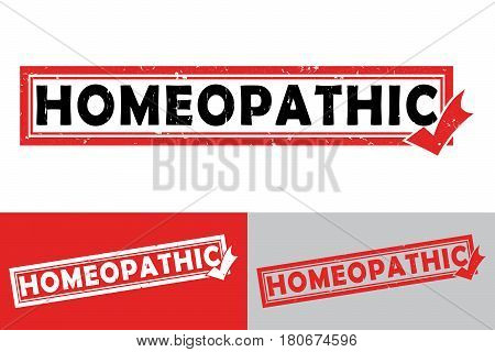 Homeopathic - printable stamp / sticker. Print colors used - printable stamp / sticker.  Grunge layer is applied exactly on the colored stamp. Color is easily change.