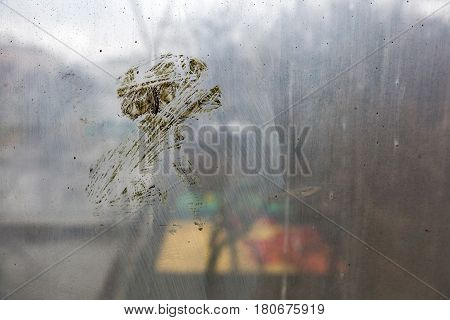 Dirty Window Glass